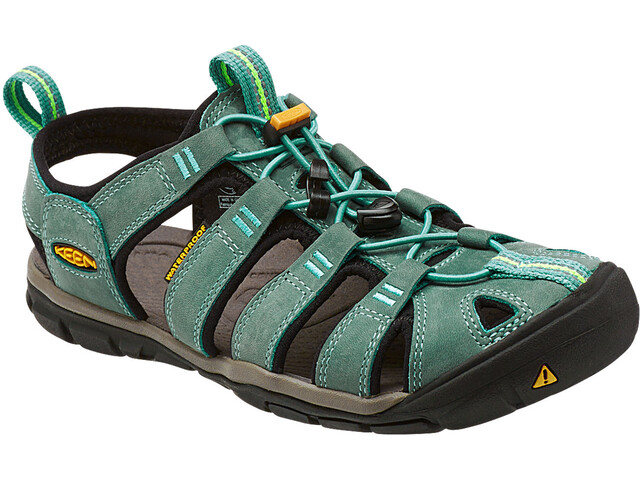 Keen Clearwater CNX Leather Sandaalit Naiset, mineral blue/yellow